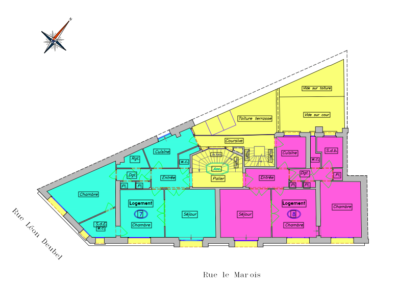 Investissements locatifs-Appartement à acheter occupés